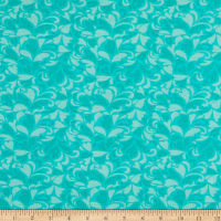 "108"" Wide Back Flannel Bouquet Mint"