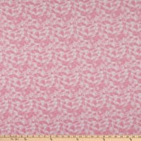 "108"" Wide Back Flannel Bouquet Pink"