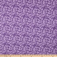 "108"" Wide Back Flannel Bouquet Purple"