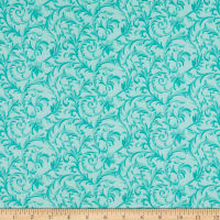 "108"" Wide Back Flannel Vine Mint"