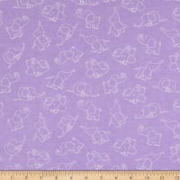 Flannel Playing Elephant Purple