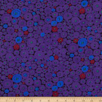 Kaffe Fassett Collective 2021 Button Mosaic Purple