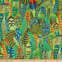 Kaffe Fassett Collective 2021 Feathers Lime