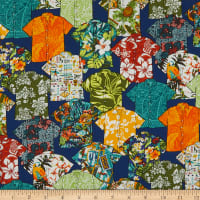 Trans-Pacific Textiles Spread the Aloha Shirts Navy