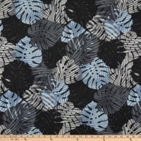 Trans-Pacific Textiles Monstera Palm Shadow Charcoal