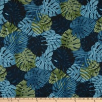 Trans-Pacific Textiles Monstera Palm Shadow Navy