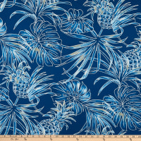 Trans-Pacific Textiles Monstera Pineapple Navy