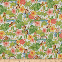 Trans-Pacific Textiles Lovey Hula Hands Beige