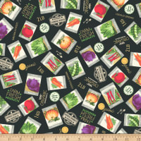 Whistler Studios Certified Delicious Seed Packets Black