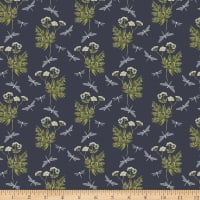 Windham Fabrics Midsummer Dancing Mayfly Graphite