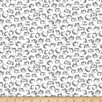 Windham Fabrics Purrfect Day Cat Faces White