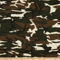 Cotton Print Army Green Camouflage