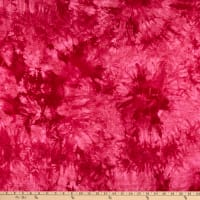 Fabtrends Rayon Stretch Jersey Knit Tie Dye Red
