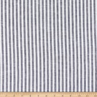 Telio Madison Linen Yarn Dyed Stripe Navy/White