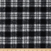 Telio Wool Blend Coating Plaid Off White/Black