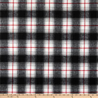 Telio Wool Blend Coating Plaid Black/Off White