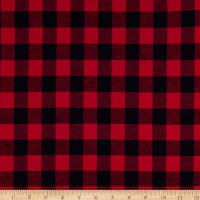Yarn Dyed Flannel Small Buffalo Check Red