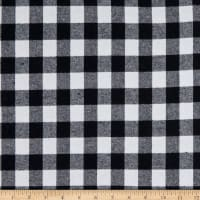 Yarn Dyed Flannel Small Buffalo Check Black/White