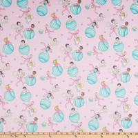 Michael Miller Minky Baby Boomers Baby Girls Pink