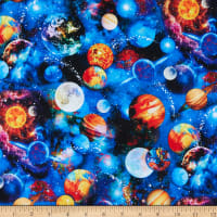 Timeless Treasures Stretch Jersey Knit Funky Outerspace Multi