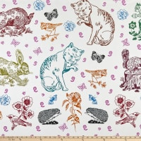 "FreeSpirit Woodland Walk Mitzi and Friends 34"" Panel"