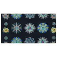 "Benartex Duets Medallion 24"" Panel Blue/Multi"