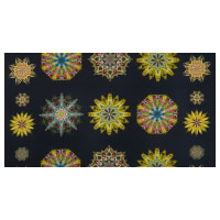 "Benartex Duets Medallion 24"" Panel Gold/Multi"