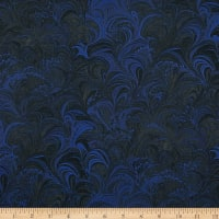 Benartex Poured Color Cosette Blue/Black
