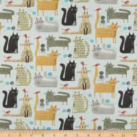 Contempo It's Raining Cats and Dogs Cats At Play Grey