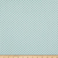 Contempo It's Raining Cats and Dogs Circle Crescents Light Turquoise