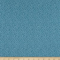 Contempo It's Raining Cats and Dogs Floating Triangles Dark Teal