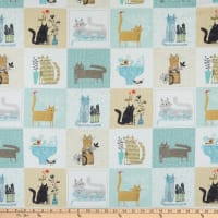 Contempo It's Raining Cats and Dogs It's Raining Cats Teal
