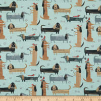 Contempo It's Raining Cats and Dogs Long Dogs Teal