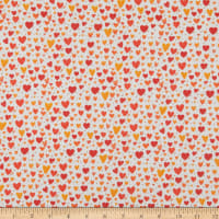 Contempo It's Raining Cats and Dogs Playful Hearts Coral