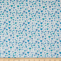 Contempo It's Raining Cats and Dogs Playful Hearts Teal