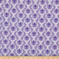 Benartex Lavender Fields Trellis Purple/White