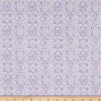 Benartex Lavender Fields Veronica Damask Light Purple
