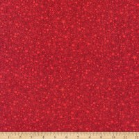 Benartex A Very Wooly Winter Wooly Snowball Red