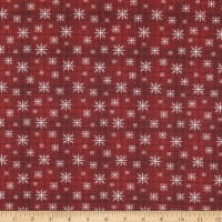 Benartex A Very Wooly Winter Wooly Snowflake Plaid Red