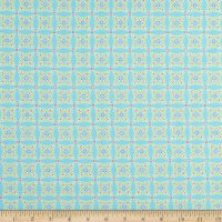 Contempo Heart and Home Feathers Geo Teal