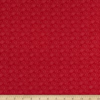 Contempo Heart and Home Flake Dot Red