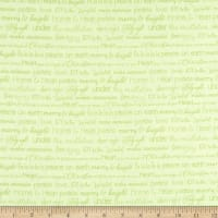 Contempo Heart and Home Merry & Bright Words Light Green