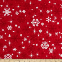 Kanvas Keeping Cozy Snowflake Wishes Red