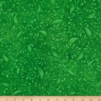 """P&B Textiles Alessia 108"""" Stems & Leaves Green"""
