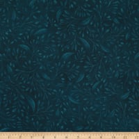 """P&B Textiles Alessia 108"""" Stems & Leaves Navy"""