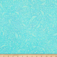 """P&B Textiles Alessia 108"""" Stems & Leaves Teal"""