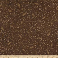 """P&B Textiles Alessia 108"""" Stems & Leaves Brown"""
