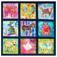 "P&B Textiles Living Farm Farm Animal 41"" Panel Multi"