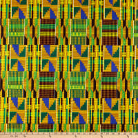 Shawn Pahwa African Ankara Print Broadcloth Dumisani Yellow/Blue