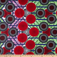 Shawn Pahwa African Ankara Print Broadcloth Kgabu Red/Black